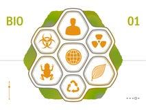 Plana symboler för vektor - biologi Royaltyfria Bilder