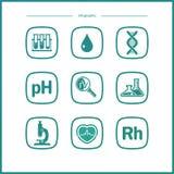 Plana symboler för vektor - biologi Royaltyfria Foton
