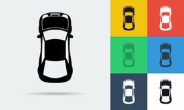 Plana symboler för vektor sju av bilen för bästa sikt Royaltyfria Foton
