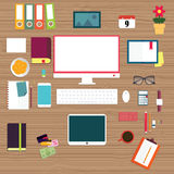 Plana symboler för designillustrationbegrepp Royaltyfria Bilder