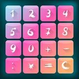 Plana symboler med nummer Arkivfoton