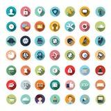 Plana symbolsdesigner, symbolsuppsättning Royaltyfria Foton
