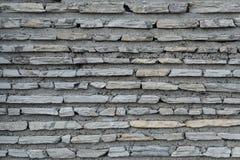 Plana tegelstenar med cement texturerar, stenar yttersida Arkivbilder