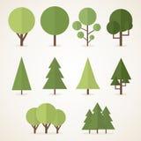 Plana träd Arkivbild