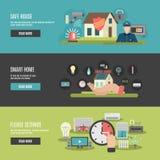 Plana växelverkande baner för Smart hem 3 Royaltyfri Foto