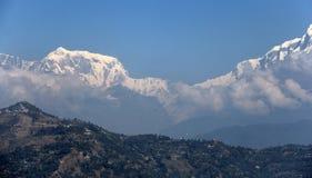 Planadores de cair e a escala de Annapurna Imagens de Stock Royalty Free
