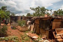 Planaltina, ¡s, el Brasil de Goià 26 de enero de 2019: Connditions de la vivienda de Pooor en el interoir del Brasil imagen de archivo