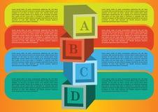 Planauslegung mit eigenem Bereich für Text. Stockfotos