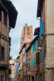 Plancat Street in Albi, France Royalty Free Stock Photos
