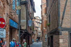 Plancat Street in Albi, France Royalty Free Stock Photography