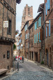 Plancat Street in Albi, France Royalty Free Stock Photo
