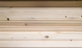 Plance beige liscie di sandedPine Fotografia Stock