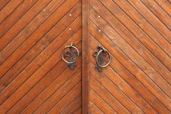 Plance di Brown di struttura di legno del portone Fotografia Stock Libera da Diritti