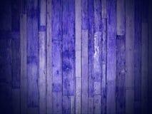 Plance di legno blu Fotografia Stock