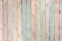 Plance di legno colorate pastello struttura o fondo Immagini Stock