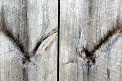 Plance di legno di Odd Knots On Old Weathered fotografia stock libera da diritti