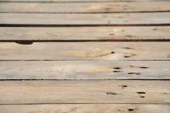 Plance di legno DOF basso Fotografia Stock