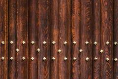 Plance di legno e struttura di arte della decorazione del metallo, Bruges Fotografia Stock