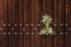 Plance di legno e struttura di arte della decorazione del metallo, Bruges Fotografia Stock Libera da Diritti