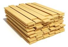 Plance di legno impilate Fotografia Stock Libera da Diritti