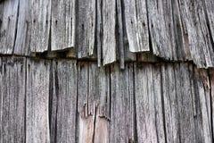 Plance di legno obsolete da un vecchio tetto della casa Immagine Stock Libera da Diritti