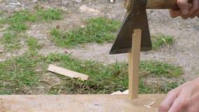 Plance di legno per accendere-legno archivi video