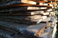 Plance di legno per costruzione Fotografie Stock Libere da Diritti