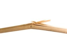 Plance di legno rotte Fotografie Stock