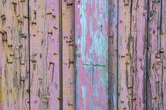 Plance di legno stagionate variopinte Fotografie Stock
