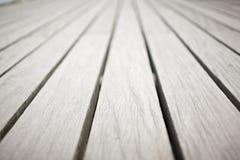 Plance di legno sul pilastro di Bournemouth nel Regno Unito immagine stock libera da diritti