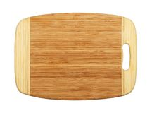 Planche à découper en bois en bambou rectangulaire d'isolement photo stock