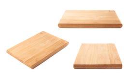 Planche à découper en bois inutilisée d'isolement image libre de droits
