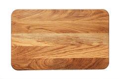 Planche à découper en bois rectangulaire photographie stock