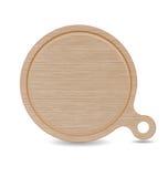 Planche à découper, plateau de pizza en bois de chêne blanc avec la poignée Photographie stock