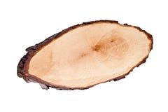 Planche à découper ronde en bois d'isolement sur un fond blanc Photos libres de droits