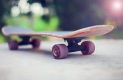 Planche à roulettes au sol Photo libre de droits