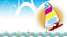 Planche de surf Photographie stock