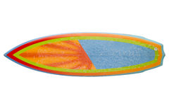 Planche de surf des années 80 de vintage d'isolement sur le blanc Image libre de droits