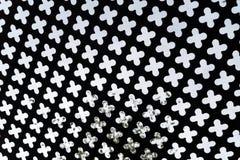Planche el estilo del deco de Amsterdam de la cerca de la rejilla que crea intimidad Imagen de archivo