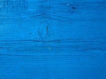 Planche en bois bleue Photo libre de droits