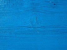 Planche en bois bleue Photos libres de droits