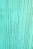 Planche en bois criquée, bleue Images libres de droits