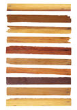 Planche en bois de vecteur d'isolement sur le blanc illustration stock