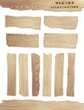 Planche en bois de vecteur d'isolement sur le fond blanc illustration stock