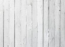 Planche en bois peinte par blanc grunge Images libres de droits