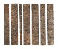 Planche en bois superficielle par les agents photos stock