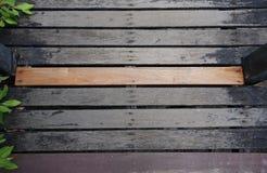 Planche en bois sur une promenade Photographie stock