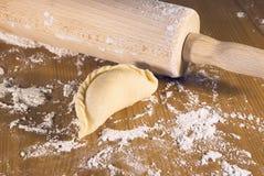 planche et boulettes Photo stock