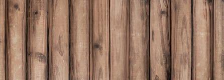 Planche large de Brown, fond en bois photographie stock