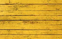 Planche peinte par jaune Image libre de droits
